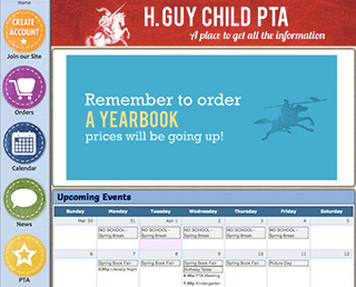 H. Guy Child PTA website screenshot